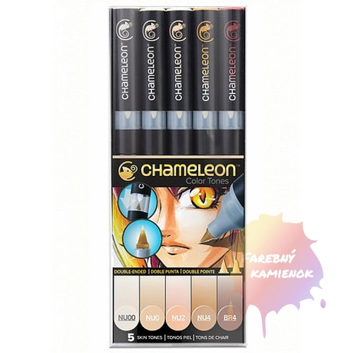 Chameleon Pen Color Tones 5 ks Skin Tones